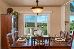 Diner avec une vue Photo stock