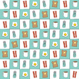Diner Background Pattern Royalty Free Stock Images