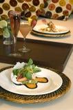 Diner in bed 2 royalty-vrije stock foto