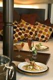 Diner in bed royalty-vrije stock afbeeldingen