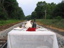 Diner bij de Sporen stock afbeelding