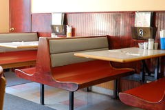 Diner Booths Royalty Free Stock Photo