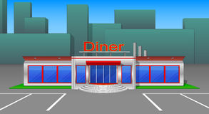 Diner cafe icons and cliparts front view v3 Stock Photos