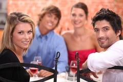 Diner d'amis Images libres de droits