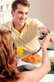 Diner de couples d'amour photographie stock