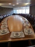 Diner de salle du conseil d'administration image stock