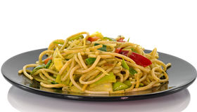 Diner dish with noodles Royalty Free Stock Photo