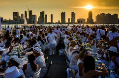 Diner En Blanc. New York City Stock Photos