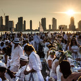 Diner En Blanc. New York City royalty free stock photos