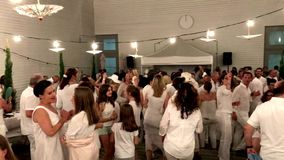 Diner en Blanc, the white dinner stock footage