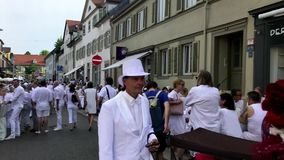 Diner en Blanc, the white dinner stock video footage