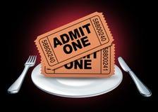 Diner en een show Royalty-vrije Stock Afbeelding