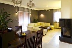 Diner et salle de séjour Photos stock