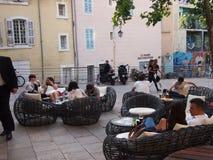 Diner extérieur à Marseille Photographie stock libre de droits
