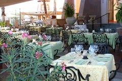 Diner extérieur Photo stock