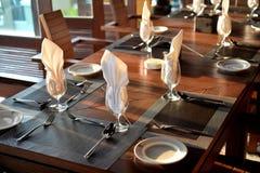Diner het plaatsen stock foto