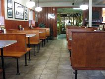 Retro Diner Booths Stock Image Image Of Eatery Table