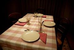 Diner lijst stock foto