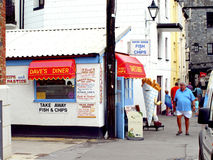 Diner, Looe, Cornwall. Royalty Free Stock Photos