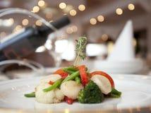 Diner met wijn royalty-vrije stock fotografie