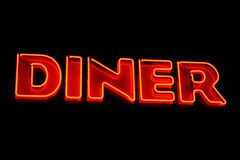 Diner neon sign Stock Photo