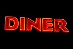 Diner neonteken Stock Foto
