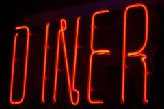Diner neonteken Stock Fotografie