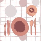 Diner object set isolated on light backdrop vector illustration