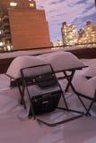 Diner op de sneeuw Stock Afbeeldingen