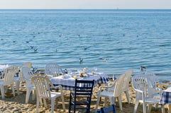 Diner op het strand Stock Foto