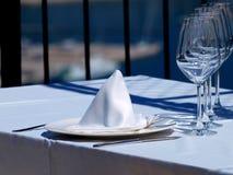 Diner op terras Stock Afbeelding