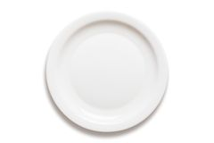 Diner-plaat Royalty-vrije Stock Afbeeldingen