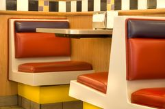 Diner Seats Royalty Free Stock Photos
