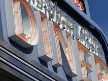 Diner Sign. Closeup of neon sign outside of diner Stock Image
