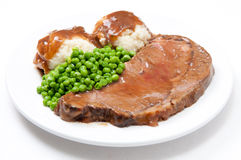 Diner style roast beef Royalty Free Stock Image