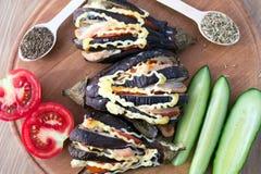 Diner van een aubergine van gebakken Stock Afbeelding