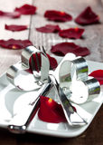 Diner voor valentijnskaartendag Stock Fotografie