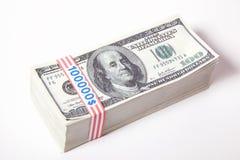 Dinero, 100 dólares Imágenes de archivo libres de regalías