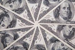 Dinero, 100 dólares americanos Fotografía de archivo libre de regalías