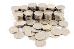 Dinero - 20 pedazos 2 de los peniques imagenes de archivo