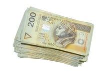 Dinero 200 PLN Imágenes de archivo libres de regalías