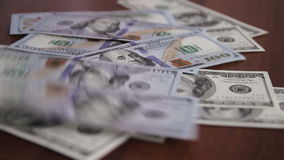 Dinero almacen de metraje de vídeo
