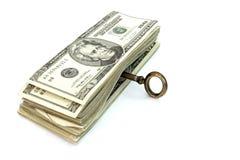 Dinero abierto del clave Fotos de archivo