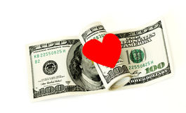 Dinero aislado en el fondo blanco Fotografía de archivo