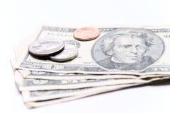 Dinero americano Imagenes de archivo