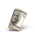 Dinero americano aislado Imagenes de archivo