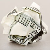 Dinero americano arrugado Imágenes de archivo libres de regalías
