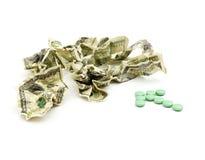 Dinero americano arrugado Imagen de archivo libre de regalías