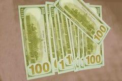 Dinero americano Mucho dinero fotografía de archivo libre de regalías