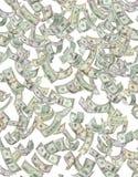Dinero americano que llueve abajo Foto de archivo libre de regalías